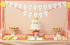 The Princess Birthday Party that Amy Atlas styled for Brooke Shields' daughter, Grier. I love the pink and yellow color scheme.