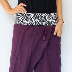 swirl  inside foldover and purple full length by meatballtheory, $18.00
