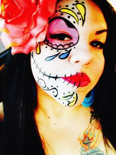 day of the dead, face painting