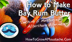 Make your own bay rum after shave. Recipe by the manufacturer of fine shaving products HTGM