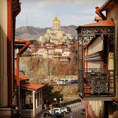 Sameba Cathedral from the Old Town, #Tbilisi, #Georgia
