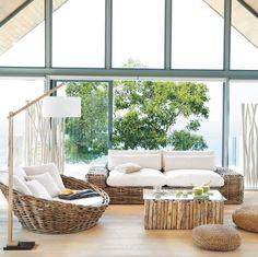 Muebles de jardín estilo atlántico.