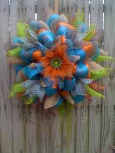 YES... Chevron Burlap!!! Spring  Summer Door Flower Shaped XLarge by Fabulous Flowertiques. https://www.etsy.com/shop/fabulousflowertiques