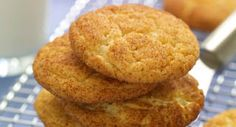 Snickerdoodles: These Snickerdoodles are crisp on the outside and chewy on the inside and full of cinnamon flavor.