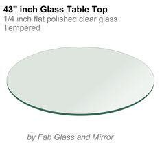 43 Inch Round Glass Table Top 1/4 Thick Flat Polish Edge Tempered By Fab