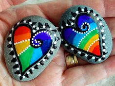 Made for Each Other / Magnets -Painted Rocks / Sandi Pike Foundas / Cape Cod Sea Stones