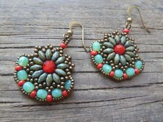 beadwork earrings / gypsy dangle earrings / by DandasCollection
