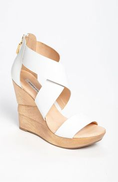 Diane von Furstenberg 'Opal' Wedge Sandal | Nordstrom- wish you were in gold