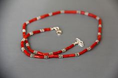 collier homme en Corail rouge véritable Corse (corallium rubrum) CH 550 : Bijoux pour hommes par les-tresors-de-la-corse