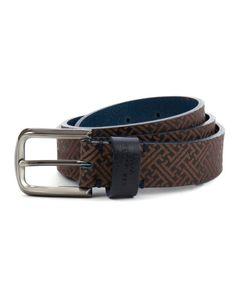 BOSSMAN | Embossed belt - Navy | Belts | Ted Baker