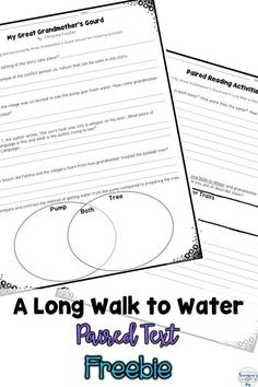 A long Walk To Water by Linda Sue Park: With Lesson Plans