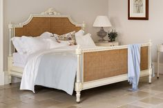 French Style Juliet Wooden Caned Bed - And So To Bed Furniture Decor, Painted Furniture, Bedroom Furniture, Rococo Style, Beds Online, Bed Sizes, Bed Design, Bed Frame