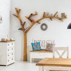 Wildon Home 220 cm Bücherregal Poprad - Modern Tree Bookshelf, Nursery Bookshelf, Tree Shelf, Kids Bookcase, Bookshelves, Childrens Bookcase, Tree Book Shelves, Modern Bookshelf, Pine Shelves