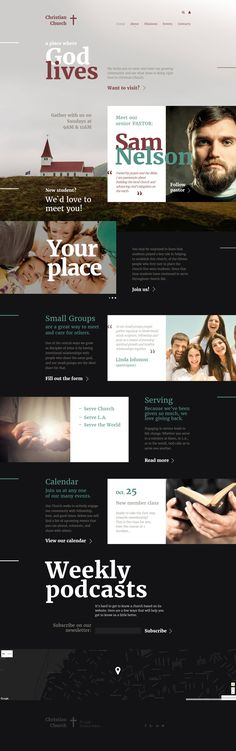 Free Divi Layout Pack for church website Pinterest Churches - podcast website template