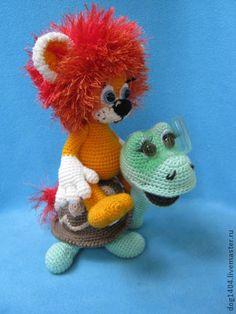 Мк по вязанию игрушек Солнечный львенок и Веселая черпаха - игрушка ручной работы
