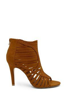 Strappy Braided Heels (Brown)