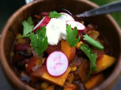 sweet potato and corn chili -- Dishing up the Dirt