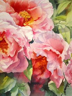 Fleurs - Jean Claude Papeix - Watercolor
