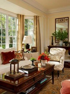 Custom made drapes Curtains Shower curtains Bedding Table Home Living Room, Interior Design Living Room, Living Room Designs, Living Room Decor Traditional, Traditional Decorating, French Country Living Room, Southern Living Rooms, Family Room, Shower Curtains