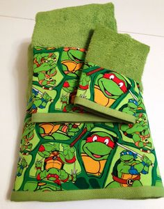 Teenage Mutant Ninja Turtles Themed Towel Set by MyTimeCreations