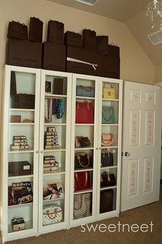 Roblox Backpack Closet 100 Best Purse Closet Images Purse Storage Handbag Storage Purse Organization