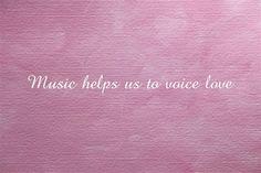 Music helps us to voice love. Visit  http://readmysongreadmysoul.com