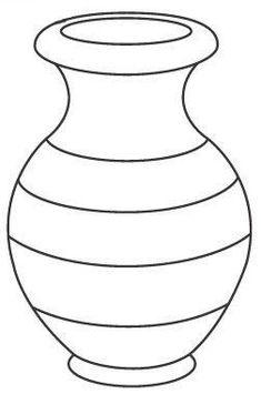 Раскраски шаблон вазы простая ваза контур для вырезания из
