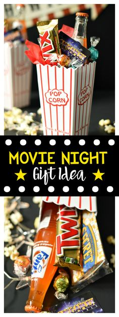 Movie Night Gift Basket-Great Gift for Birthdays, Teacher Appreciation or Thank Yous!