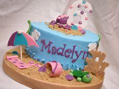 Beach Theme Pool Party Cake