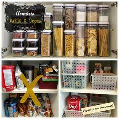 Organização do armário de mantimentos