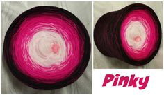Bobbel *Pinky* Material: Hochbauschacryl 6 Farben (Mix) weiss rosa neonpink fuchsia beere schwarz