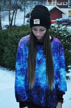 sweater hipsta galaxy galaxy print grunge hippie hipster clothes for Isabella
