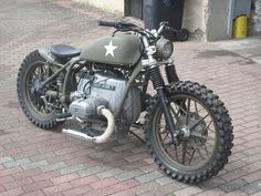 On paper you wouldn't think this BMW, via USA military scrambler works but it does