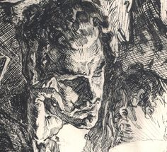 Joseph Clement Coll (close-up of pen ink illustration)
