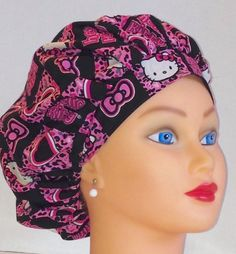 A personal favorite from my Etsy shop https://www.etsy.com/listing/188028788/bouffant-surgical-scrub-hat