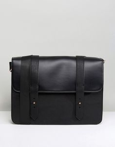 River Island Satchel With Rose Gold Detail In Black at asos.com
