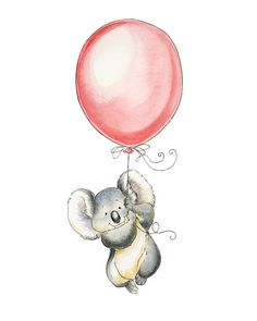 Watercolor Nursery Art. Betty the Koala Watercolor by PosieMeadows