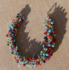 Anthropologie knockoff DIY tutorial beaded necklace