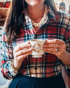 Love the necklace and the flannel pairing.