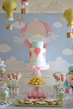 Balões de ar quente para o 1º aniversario da Maria   Babka