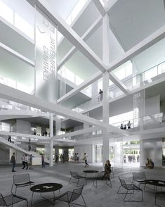 The Tokyo and Paris-based Sou Fujimoto Architects have won a competition to design the HSG Learning Center for the Swiss University of St Gallen. Classical Architecture, Architecture Details, Interior Architecture, Architecture Collage, School Architecture, Landscape Architecture, Fujimoto Sou, Architectural Section, Architectural Sketches
