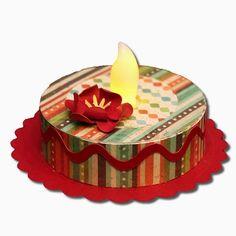 Bits of Paper: Battery Operated Tealight Cakes! Tutorial