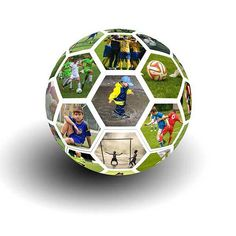 Tutorial picture + video on how to create a soccer photo ball collage in Photoshop. Photoshop Collage Template, Free Photoshop, Photoshop Tutorial, Photoshop Actions, Draw A Hexagon, Hexagon Shape, Photoshop For Photographers, Photoshop Photography, Making The Team