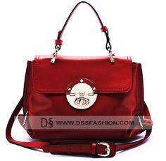 Unique Top Handle Tote Bag Red