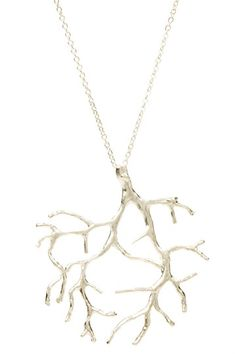 Rafia Tree Pendant Necklace in sterling silver.  Retails for &0$38.  On sale for $19.