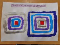 Després de treballar la línia i el cercle, avui us porto el treball que hem fet per treballar el quadrat. Partint d'un gomet quadrat, la id... Diy And Crafts, Crafts For Kids, Arts And Crafts, Pre Writing, Math For Kids, Color Shapes, Mark Making, Art Plastique, Fine Motor Skills