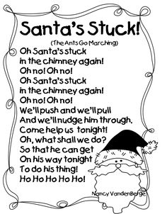 """Song,""""Santa's Stuck!!"""" (Tune: """"The Ants Go Marching"""") & Learning Through Literature, ELA, Math & Science Pack"""