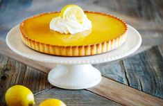 One of the best lemon tart& ever. This one practically zings in the mouth with all the lemons,and, it is easy to make. What are you waiting for? Baked Egg Custard, Custard Tart, Vanilla Custard, Lemon Recipes, Tart Recipes, Dessert Recipes, Lemon Desserts, Fruit Recipes, Sweet Recipes