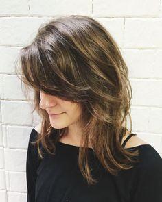 Cute Medium Big Curly Layered Synthetic Hair Capless Wig – MY World Medium Length Hair With Layers, Medium Layered Hair, Medium Hair Cuts, Medium Hair Styles, Short Layers, Medium Curly, Long Curly, Short Hair Styles Easy, Short Hair Updo