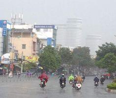 a rain morning in saigon